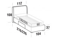 Beds Windsor Single bed with BOX bed frame