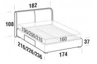 Beds Windsor Double bed with BOX bed frame