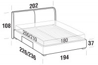Beds Windsor Maxi double bed with BOX bed frame