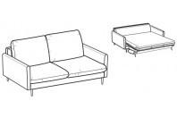 Sofa beds Bali 3-er sofa bed with kama armrest