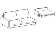 Sofa beds Bali 3-er maxi lateral element sofa bed with kama armrest