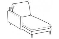 Sofa beds Bali Chaise longue with kama armrest