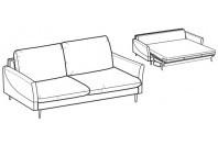 Sofa beds Bali 3-er maxi sofa bed with krio armrest