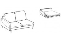 Sofa beds Bali 2-er lateral element sofa bed with krio armrest