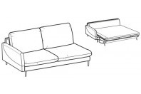 Sofa beds Bali 3-er maxi lateral element sofa bed with krio armrest