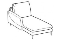 Sofa beds Bali Chaise longue with krio armrest