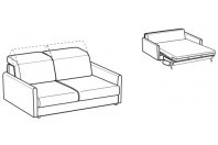 Sofa beds Barbados 2-er sofa bed with round armrest