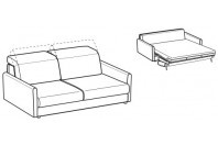 Sofa beds Barbados 3-er sofa bed with round armrest