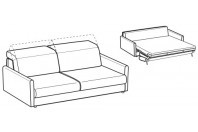 Sofa beds Barbados 3-er maxi sofa bed with round armrest