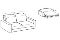 Sofa beds Barbados 2-er sofa bed with strong armrest