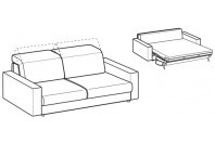 Sofa beds Barbados 3-er sofa bed with strong armrest