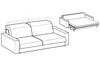 Sofa beds Barbados 3-er maxi sofa bed with strong armrest