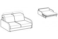 Sofa beds Barbados 2-er sofa bed with happy armrest