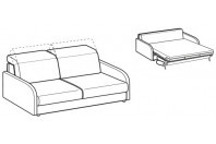 Sofa beds Barbados 3-er sofa bed with happy armrest