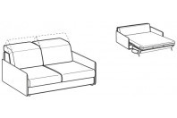 Sofa beds Barbados 2-er sofa bed with slim armrest
