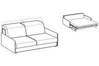 Sofa beds Barbados 3-er sofa bed with slim armrest