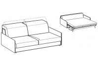 Sofa beds Barbados 3-er maxi sofa bed with slim armrest