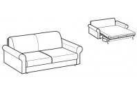 Sofa beds Madeira 2-er sofa bed with classic armrest