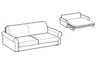 Sofa beds Madeira 3-er sofa bed with classic armrest