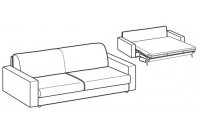 Sofa beds Madeira 3-er maxi sofa bed with heavy armrest