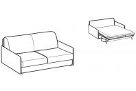 Sofa beds Madeira 2-er sofa bed with style armrest