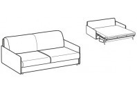 Sofa beds Madeira 3-er sofa bed with style armrest