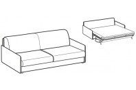 Sofa beds Madeira 3-er maxi sofa bed with style armrest