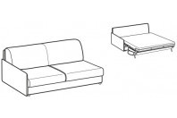 Sofa beds Madeira 3-er lateral element sofa bed with style armrest