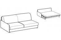 Sofa beds Madeira 3-er maxi lateral element sofa bed with style armrest