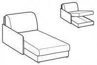 Sofa beds Madeira Chaise longue with storage and style armrest