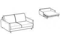 Sofa beds Maldive 2-er sofa bed with trendy armrest