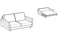 Sofa beds Maldive 2-er sofa bed with sailing armrest