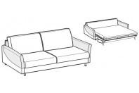 Sofa beds Maldive 3-er maxi sofa bed with sailing armrest
