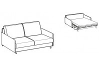 Sofa beds Maldive 2-er sofa bed with simply armrest