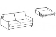 Sofa beds Maldive 3-er sofa bed with simply armrest