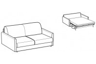 Sofa beds Naxos 2-er sofa bed with round armrest