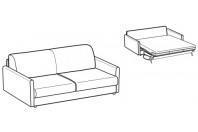 Sofa beds Naxos 3-er sofa bed with round armrest
