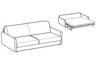 Sofa beds Naxos 3-er maxi sofa bed with round armrest