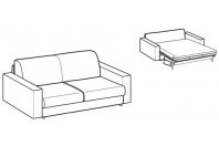 Sofa beds Naxos 2-er sofa bed with strong armrest