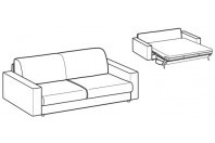 Sofa beds Naxos 3-er sofa bed with strong armrest