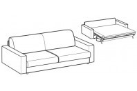 Sofa beds Naxos 3-er maxi sofa bed with strong armrest