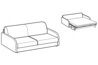 Sofa beds Naxos 3-er sofa bed with happy armrest