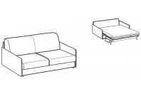 Sofa beds Naxos 2-er sofa bed with slim armrest