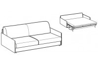 Sofa beds Naxos 3-er maxi sofa bed with slim armrest