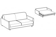 Sofa beds Tahiti 3-er sofa bed with trendy armrest