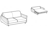 Sofa beds Tahiti 2-er sofa bed with sailing armrest