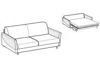 Sofa beds Tahiti 3-er sofa bed with sailing armrest