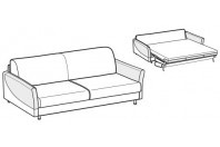 Sofa beds Tahiti 3-er maxi sofa bed with sailing armrest