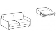 Sofa beds Tahiti 2-er sofa bed with simply armrest