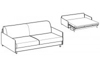 Sofa beds Tahiti 3-er maxi sofa bed with simply armrest
